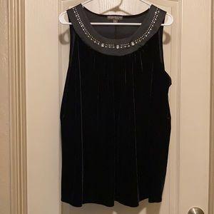 2/$20 Suzie Couture Black Velvet Tank Top